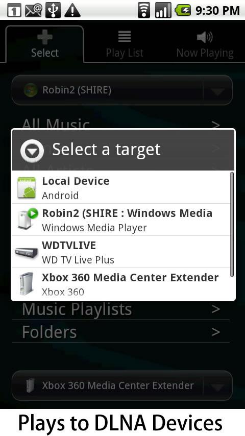 DLNA: application Android 2Player
